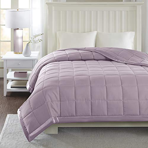 Madison Park Down Alternative Blanket Hypoallergenic 3M Scotchgard Stain Resistant Bedroom Bedding, Standardsized Twin, Windom Lilac