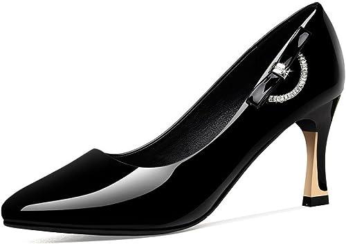 DKFJKI Pompes Pompes De Les Les dames Talons Aiguilles Strass Chaussures De Travail Professionnelles Noires  qualité garantie