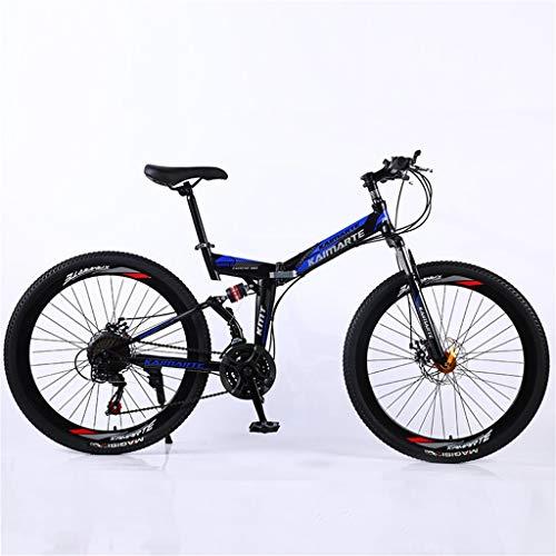 Hörsein Estudiante Adulto Bicicleta de montaña Plegable de 24 Pulgadas 26 Pulgadas Bicicleta Estudiante Bicicleta de montaña Velocidad Variable Cola Suave,B,26 Inch 27 Speed