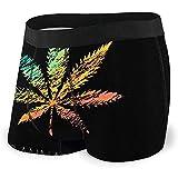Web--ster Men 'S Boxer Briefs Cannabis Kreatives Logo Marihuana Buntes Symbol Unterhose Knickers