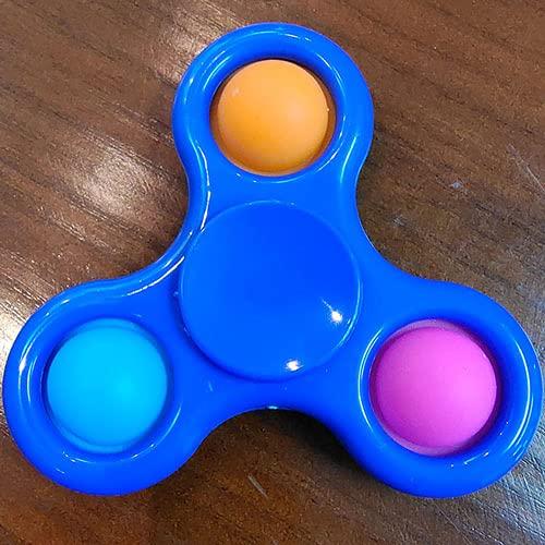 Modeen Fidget Sensorial Pop Juguete Empuje Burbuja Llavero Spinner Simple Hoyuelo Fidget Juguete Niños Antiestrés Mano Spinner Espiral Twister Dedo Dedo Gyro Actualización Educativa Juguetes Regalo