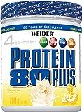 Weider Protein 80 Plus, Proteina de suero de suero de leche, Sabor Plátano, 750 gr