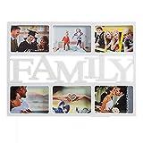 LAS COSAS QUE IMPORTAN Portafotos Family Familia Familiar. Multiples Fotos para Colgar en la Pared.Ideal para tu casa u hogar. Portafotos múltiple con Espacio para 6 Fotos de 15 x 10 cm