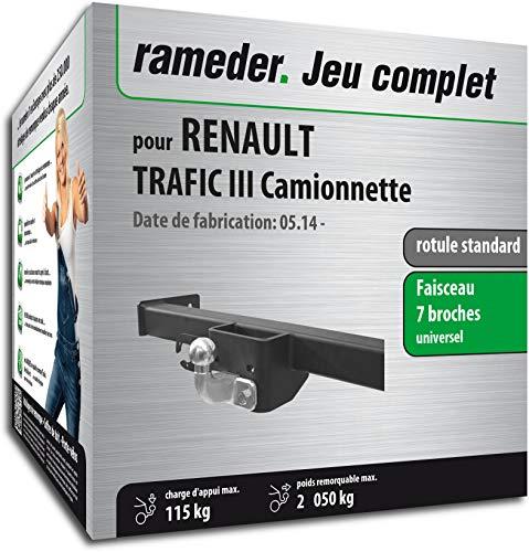 Rameder Pack, attelage rotule Standard 2 Trous + Faisceau 7 Broches Compatible avec Renault TRAFIC III Camionnette (135873-12792-1-FR).