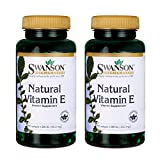 Swanson 200IU Premium Natural Vitamina E Suplemento 250 Cápsulas Blandas 500 g