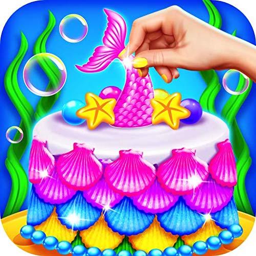 Mermaid Princess Cake Maker - Kids Fun Baking Games & Glitter Cake Baking