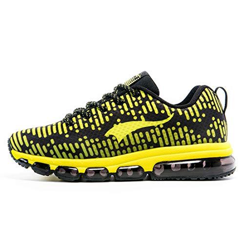 ONEMIX Schuhe Herren Damen Air-Laufschuhe Sportschuhe Trainers Männer Gym Sport Athletisch Running Sneaker mit Luftpolster 1180 44EU