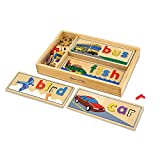 Melissa & Doug See & Spell Learning Toy (Developmental Toys, Wooden Case, Develops Vocabulary and Spelling Skills, 50+ Wooden Pieces, Great Gift for Girls and Boys - Best for 4, 5, and 6 Year Olds)