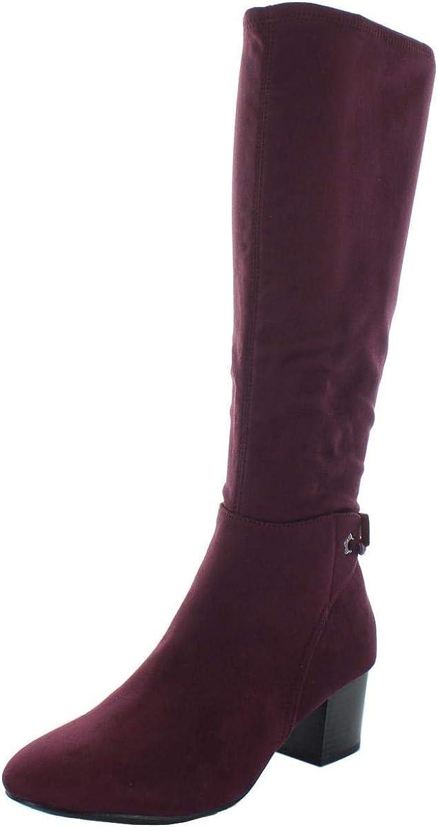 Charter Club Womens Jaccque Bow-Back Grommet Block Heel Boot