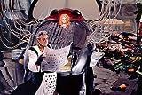 Mini-Poster, Jane Fonda als Barbarella mit Milo O'Shea in