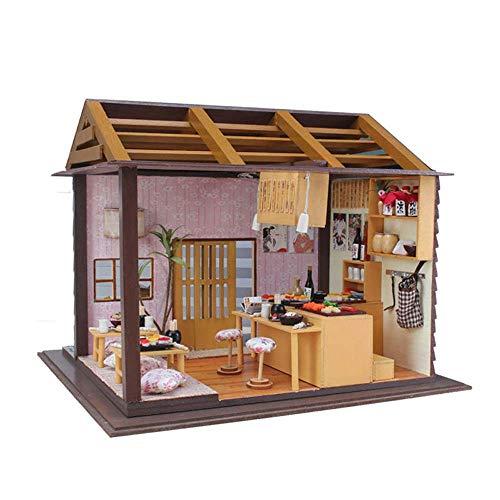 Toy Handmade House DIY Cottage Kreatives Gebäude Sandtisch Modell Toy Assembly, Puppenhaus-Sets für Kleinkinder, Puppenhaus, Modellbau-Set aus Holz, Dreamhouse Wooden Room Kit