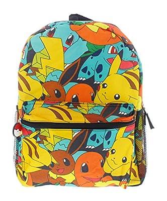 "Pokemon 16"" Canvas Backpack - School Bag"