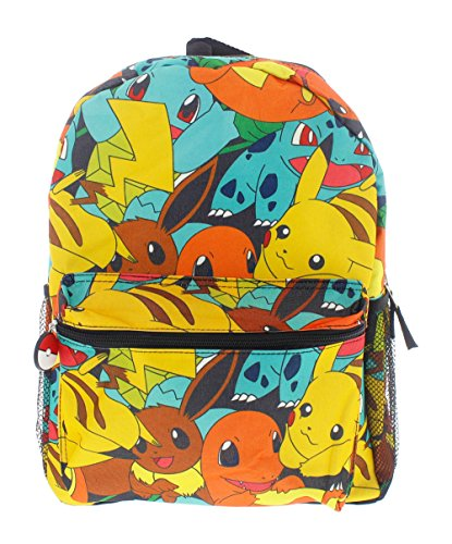 Pokemon 16' Canvas Backpack - School Bag
