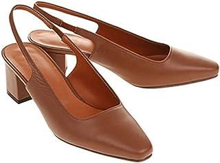 [qkeusf] パンプス レディース ストラップ 太めヒール ハイヒール ローファー チャンキーヒール スクエアトゥ ビジネス用 履きやすい スクエアヒール レザー お洒落 きれいめ 婦人靴