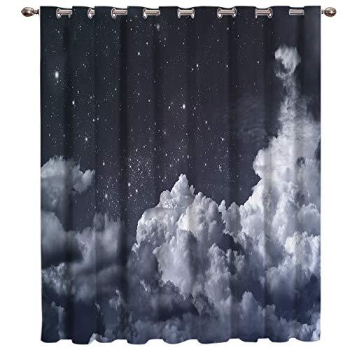 BJGCWY Galaxy Schöne Nacht Zimmer Vorhänge Große Fenster Fenster Vorhänge Dunkle Vorhänge Küche Innenfenster Behandlung