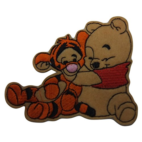 Winnie The Pooh Series Baby Pooh Hugging Baby Tiger Figure Embroidered Patch Decorative Applique