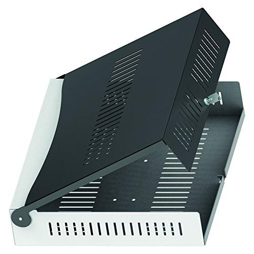 PureMounts PDS-2503 afsluitbare houder voor Blu-ray/DVD-speler en AV-receiver (serie PDS-2001C tot PDS-2201C) zwart/zilver