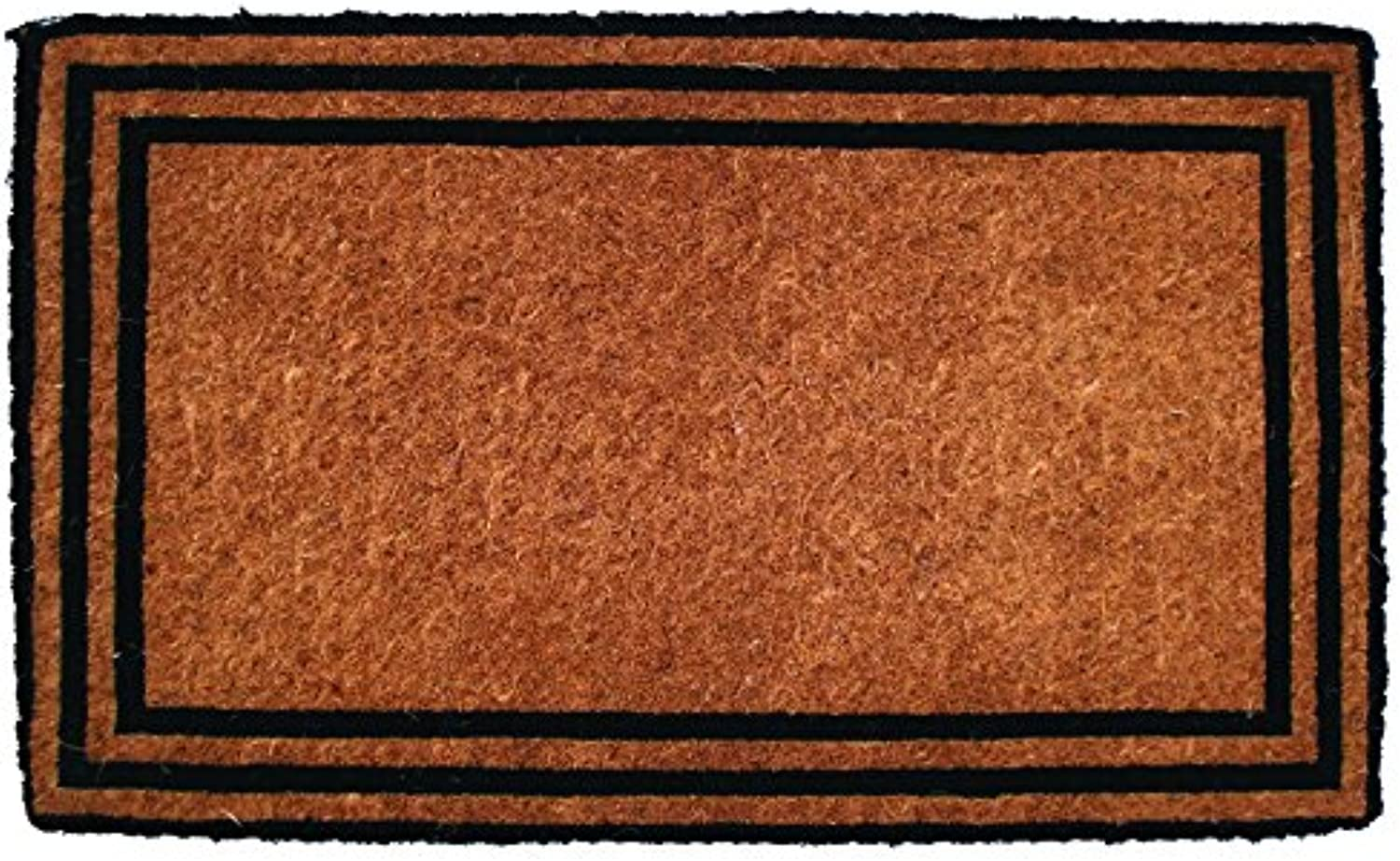 Entryways The One with The Border Handwoven Extra Thick Coconut Fiber Doormat