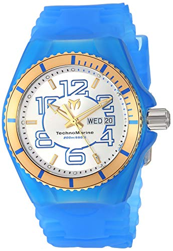 TECHNOMARINE MEN'S CRUISE JELLYFISH 44MM SILICONE BAND QUARTZ WATCH...