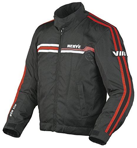 Nerve 1510130101_08 Swift Motorradjacke, Schwarz/Rot, 4XL
