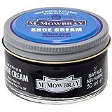 [M.モゥブレィ] シューケア 靴磨き 栄養 保革 補色 ツヤ出しクリーム シュークリームジャー ネイビーブルー 50ml