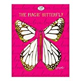 TOPS Malibu Love Metalic Magic Flying Butterfly White (Hide Inside a Card or a Book - FLYIES When Opened)