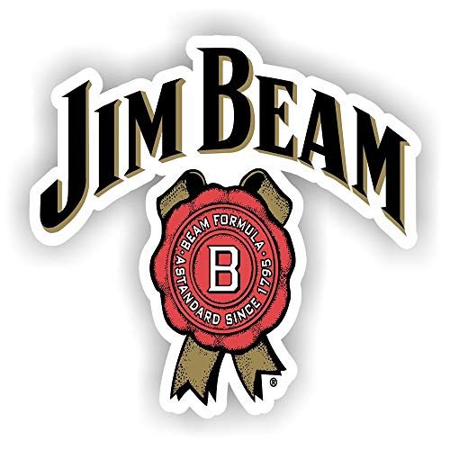 Set of 3 - Jim Beam - Beer Rum Full Color Bar Man Cave - Sticker Graphic - Auto, Wall, Laptop, Cell, Truck Sticker for Windows, Cars, Trucks