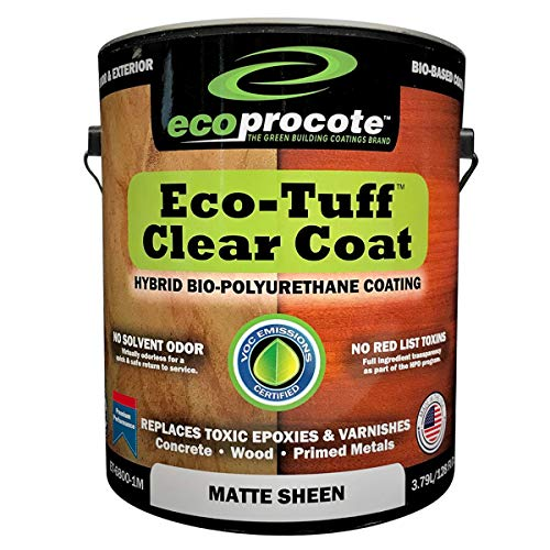 Eco-Tuff Clearcoat Concrete Sealer and Wood Floor Sealer | Polyurethane Countertop Sealer (1 Gallon, Matte)