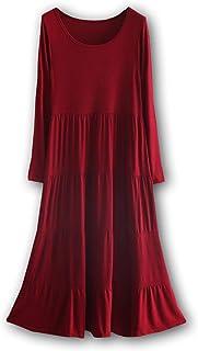[モルクス] ワンピース ドレス 長袖 ブロケード (ダークグレー、ブラック、ライトグレー、ワインレッド、ネイビー) M~L レディース
