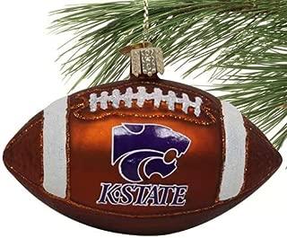 NCAA Kansas State Wildcats Glass Football Ornament