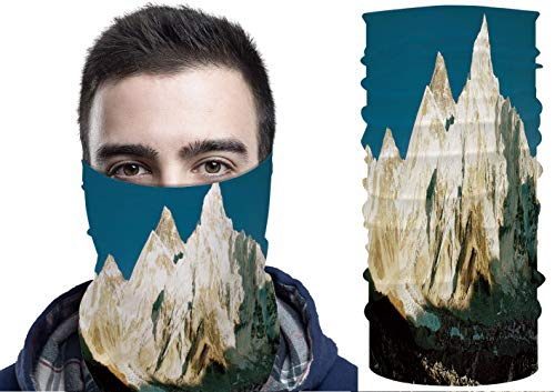 C COABALLA Face Scarf Neck Gaiter - View of Everest and Nuptse from SW126571