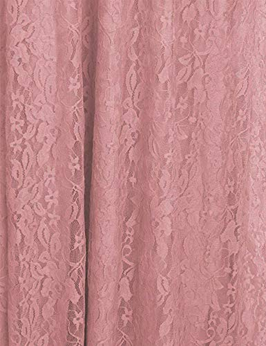 Maternity Off Shoulder Ruffle Sleeve Lace Women's Gown Maxi Photography Dress (Pink Carnation, Large)