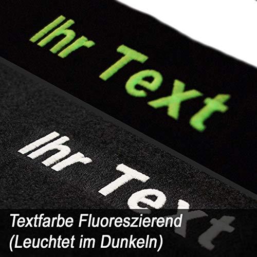 kh Teile Fußmatten 3er E46 (Selbst Gestalten - Bestickt Text Name Werbung usw) 4-teilig Autoeppich Velours Fluoreszierend (Leutet im Dunkeln)