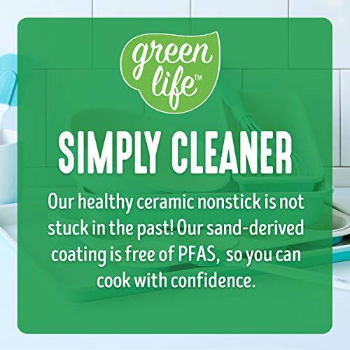 GreenLife Bakeware Healthy Ceramic Nonstick, Rectangular Cake Pan, 13