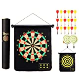 Dart board set magnetic darts on both sides darts target magnet magnet-15 inch 18 strong magnetic...