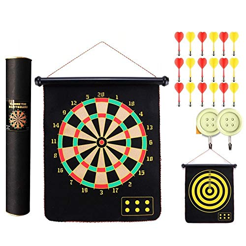 Dart board set magnetic darts on both sides darts target magnet magnet-15 inch 18 strong magnetic label set