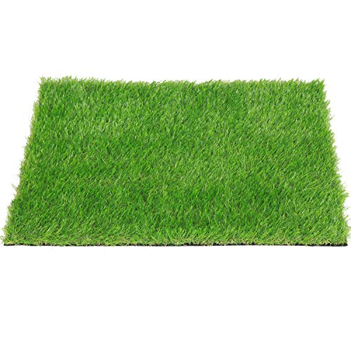 QYH Artificial Grass Doormat Indoor/Outdoor Green Lawn Rug Pet Turf for Dogs Pee Pad Synthetic Grass Door Mat Fake Grass Carpet for Entrance Way (18' x 24')