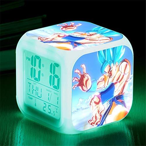 fdgdfgd Dragon Ball Super Anime Doll Reloj Digital Reloj Despertador LED Regalo de muñeca con...
