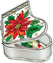 Amia Baby Handpainted Glass Jesus Manger Stocking Jewelry Box 3-1//4-Inch by 2-3//4-Inch by 1-1//4-Inch