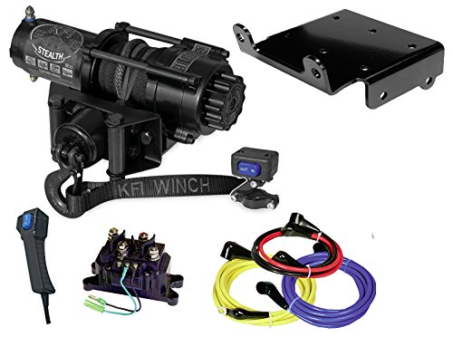 Best Prices! KFI Combo Kit - SE35 3500 lb Stealth Winch & Winch Mount - compatible with 2007-2010 Su...