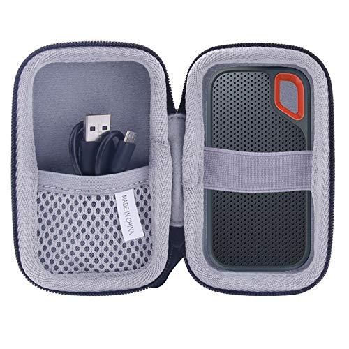 for SanDisk 外付SSD 250GB 500GB 1TB 2TB専用保護 キャリングケース 旅行収納ケース -waiyu JP.