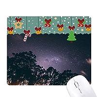 木の天の川は夜空の星 ゲーム用スライドゴムのマウスパッドクリスマス