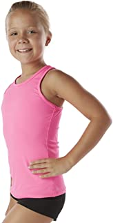 Liakada Girls Basic Tank Top – Dance, Gym, Yoga, Cheer! Hot Pink