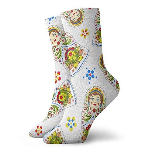 N/A Anzug-Socken,High Performance Tennissocken,Sport/Sneaker Socken,Business Socken,Russische Puppen Gedruckte Feuchtigkeitskontrolle Laufsocken Langlebige Atmungsaktive Trainingssocken