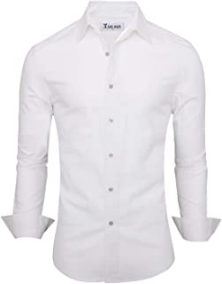 Men's Casual Plain Oxford Cotton Button Down Dress Shirt