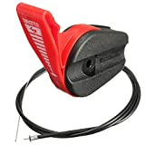 Podoy Lawn Mower Throttle Cable Universal 65' Control Switch Lever Handle Kit for Electric Petrol Lawnmowers