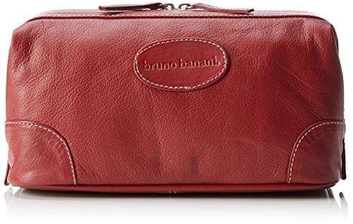 bruno banani Geldbörse Leder Schwarz Reißverschluss RFID Schutz hochwertig Doppelnaht, Red (Rot), Breite 28 cm, Höhe 13,5 cm, Tiefe 12 cm