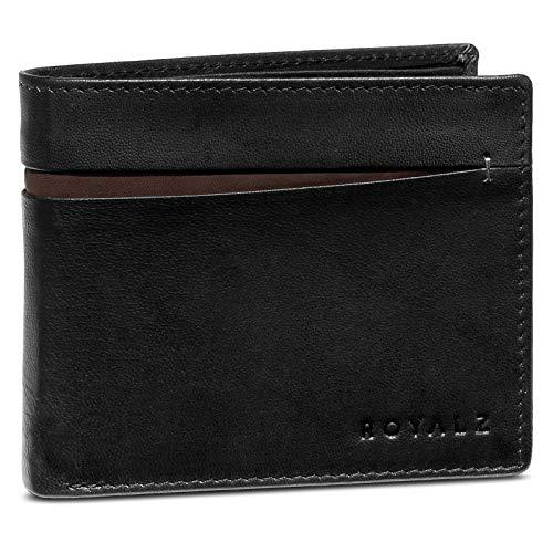 ROYALZ Vintage portemonnee heren RFID bescherming portemonnee leder NFC/RFID Blocker portefeuille 6 kaartsleuven