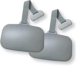 Carefree Stuff Hot Tub Weighted Gray Replacement Headrest Spa Pillow (2 Pack)