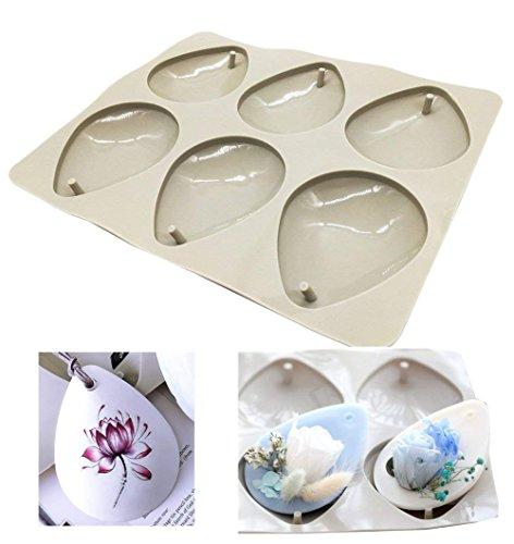 Stampi in resina siliconica per realizzare articoli di gioielleria fatti in casa, con foro per appenderli  Drop